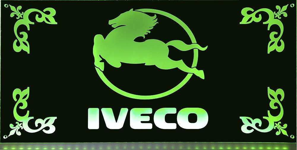 Beleuchtetes IVECO Logo-Schild f/ür den 24Volt-Anschluss Edles LED-Schild als Truck-Accessoire Ideales LKW-Zubeh/ör f/ür Trucker in verschiedenen Farbe IVECO LED-Leuchtschild 60x30cm ✓ Ideale Geschenkidee ✓ LED-Beleuchtung ✓ Lasergraviert