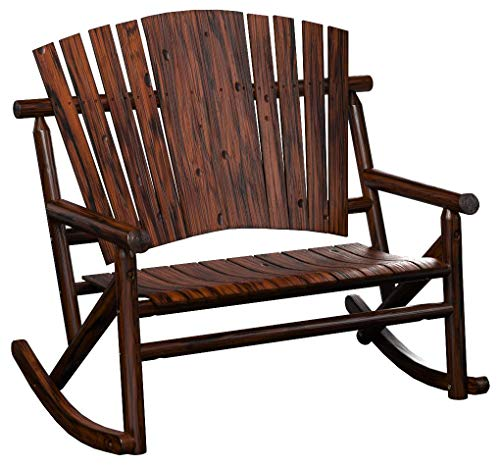 Leigh Country TX 93866 Char-Log Double Rocker (Bench Rocking Outdoor Furniture)