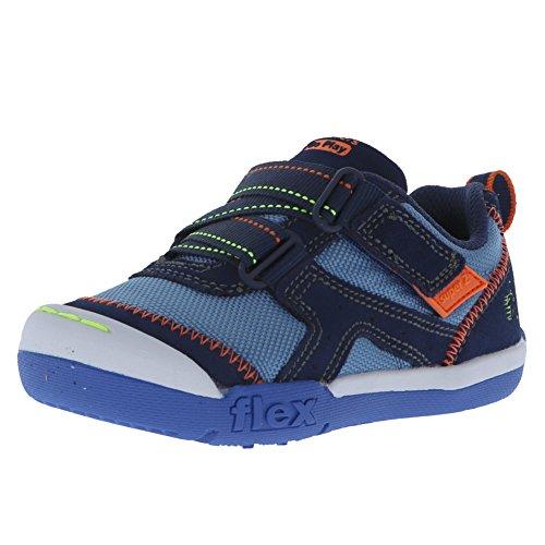 Skechers Kids Boys' Flex Play-Easy Pick Sneaker, Navy/Light Blue, 6 Medium US ()