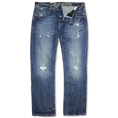 Cult of Individuality Hagen Straight Leg Jeans Salt by Cult Of Individuality Denim