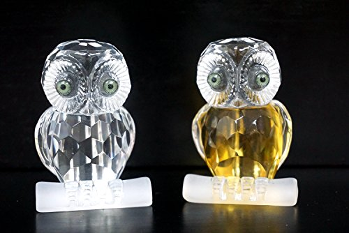 2 Owl Figurines - YK Decor Small Figurine Crystal Owl, Set of 2