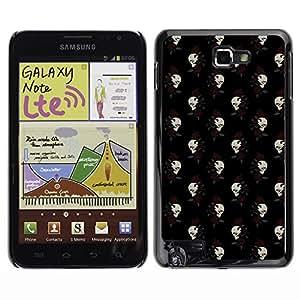 ZECASE Funda Carcasa Tapa Case Cover Para Samsung Galaxy Note I9220 No.0001861