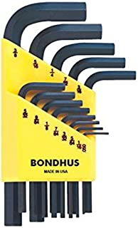 """product image for Bondhus 12237 Set of 13 Hex L-wrenches, Short Length, sizes .050-3/8"""""""