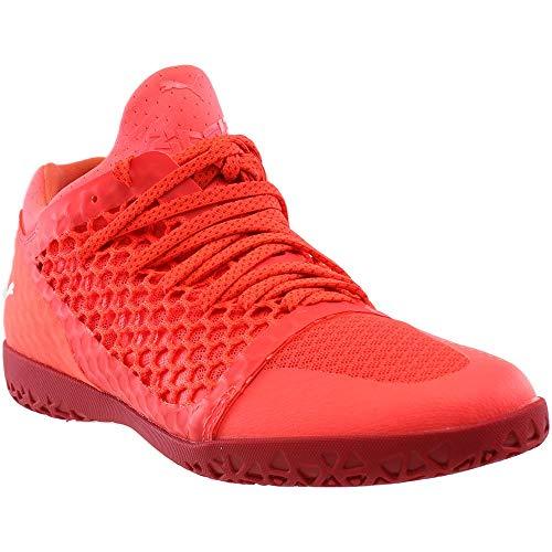 PUMA Men's 365 Netfit CT Soccer Shoe, Fiery Coral White-Toreador, 12 M US
