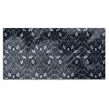 Gothic Flower Fantasy Rectangle Tablecloth: Medium Dining Room Kitchen Woven Polyester Custom Print