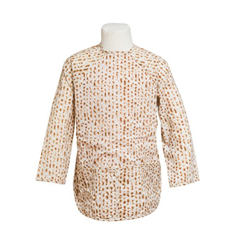 Price comparison product image FIT RITE Unisex Kids Matzah Designed Passover Bib Smock ~ Traditional Jewish Holiday Seder Gift (Medium 3-4 Years)