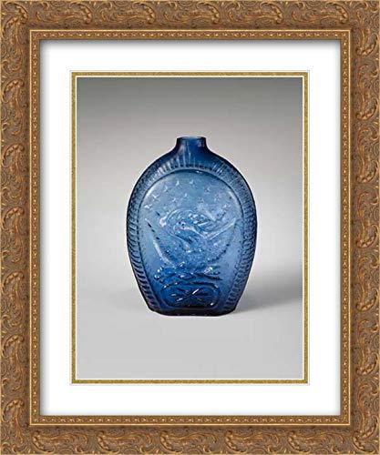 Kentucky Art Glass Frame - Kentucky Glass Works - 28x36 Gold Ornate Frame and Double Matted Museum Art Print - Flask