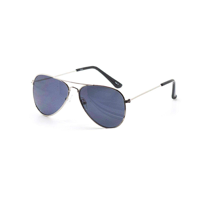 Ultra ® Childrens Kids Pilot Style Sunglasses Unisex Classic Sunglasses Pilot Style Sunglasses Kids UV400 Sunglasses UVA UVB Protection Childrens Sunglasses Girls and Boys Thin Frame BKKPIL1