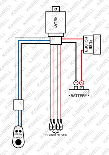 kawell 2 legs wiring harness include switch kit 180w 40