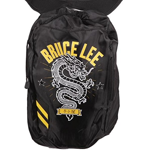 Bruce Lee Family Company Dragon Drawstring Backpack One Size Black