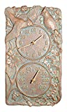 """Whitehall Cardinal Outdoor Clock/Thermometer Combo 14""""H x 8""""W"""