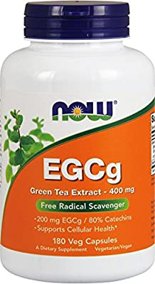 Egcg Green Tea Extract 180 Vcaps 400mg By Now Foods