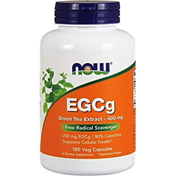 NOW EGCg Green Tea Extract 400 mg,180 Veg Capsules