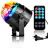 TBAO RGB 3W Stage Lights Crystal Magic Rotating lights Laser spotlights LED Light Led Stage Lights 7 Color Changing For KTV Lighting Xmas Party Wedding Show Club Pub Disco DJ Lighting (US)