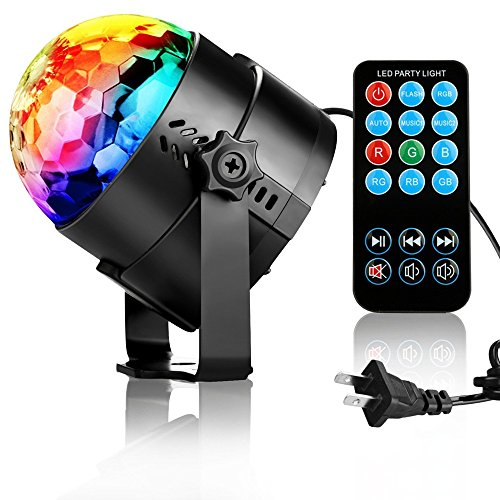 TBAO RGB 3W Stage Lights Crystal Magic Rotating lights Laser spotlights LED Light Led Stage Lights 7 Color Changing For KTV Lighting Xmas Party Wedding Show Club Pub Disco DJ Lighting (US) by TBAO