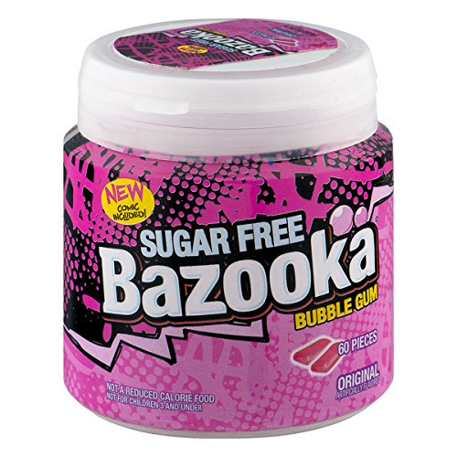 Sugar Free Bazooka Gum - 60CT Tub