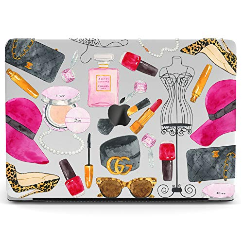 Wonder Wild Mac Retina Cover MacBook Pro 15 inch 12 11 Clear Hard Case Air 13 Apple 2019 Protective Laptop 2018 2017 2016 2015 Plastic Print Touch Bar Cute Fashion Pattern Girly Woman Dummy Perfume ()