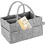 Baby Diaper Caddy Portable Organizer Storage Basket...