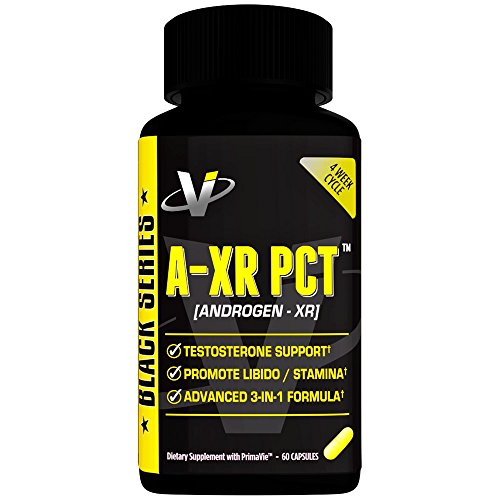 VMI Sports AXR PCT Testosterone Booster Full Spectrum Post Cycle Therapy Boosts Free Testosterone Inhibits Estrogen Conversion Increases Libido and Muscle Energy With Prostate Support