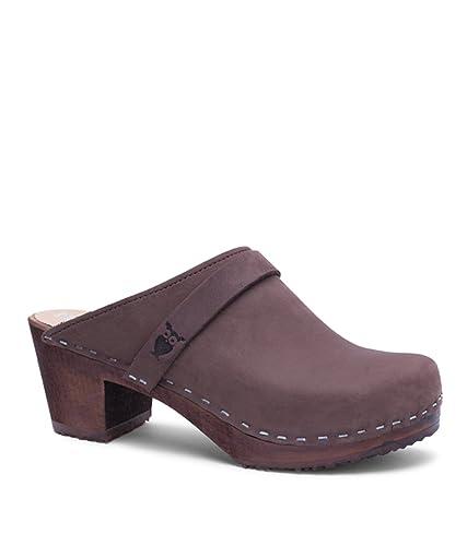 026943e86cd Sandgrens Swedish High Heel Wooden Clog Mules for Women