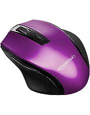 AmazonBasics Ergonomic Wireless PC Mouse - DPI adjustable - Purple