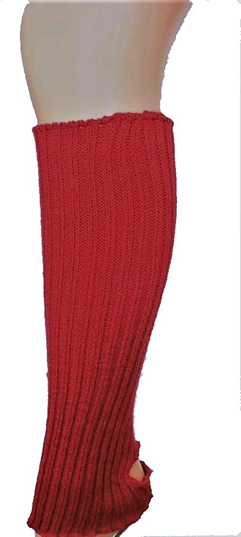 40cm Ribbed Stirrup Legwarmers Dance Ballet Leg Warmers Amber Rose