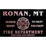 qy60302-r FIRE DEPT RONAN, MT MONTANA Firefighter Neon Sign