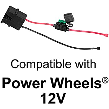 amazon com power wheels 00801 1778 charger, 12 volt toys & games 2003 harley wiring diagram wire harness connector for fisher price power wheels 12 volt sla battery