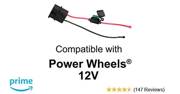 amazon com: wire harness connector for fisher-price power wheels 12-volt  sla battery: toys & games