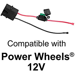 51c8mG6CqxL._SY300_ amazon com wire harness connector for fisher price� power wheels 12 volt battery harness at honlapkeszites.co