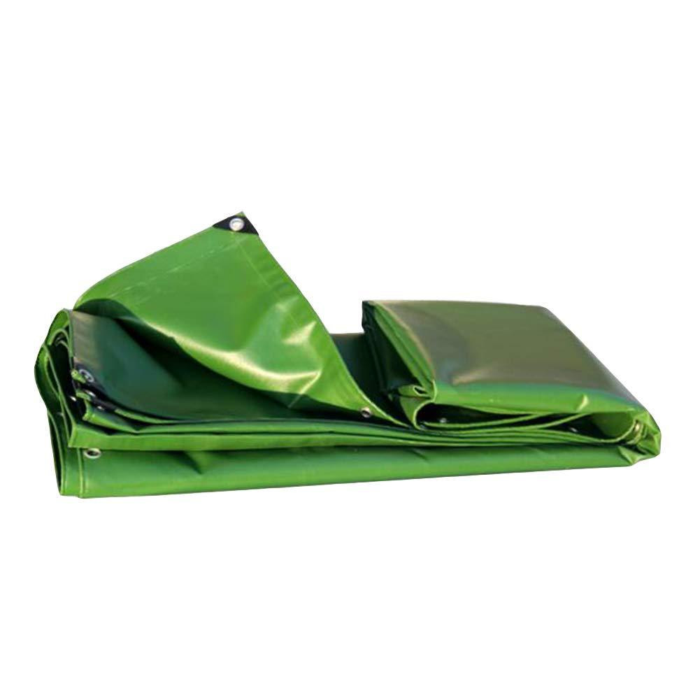 DALL ターポリン タープ グランドシート カバー シェッドクロス 耐寒性 厚い 両面 防水 (色 : 緑, サイズ さいず : 3×4m) 3×4m 緑 B07KVSWG8N