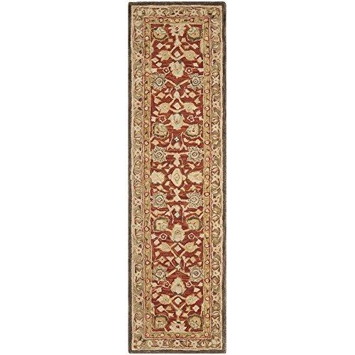 Safavieh Anatolia Collection AN512G Handmade Traditional Oriental Rust and Green Premium Wool Runner (2'3