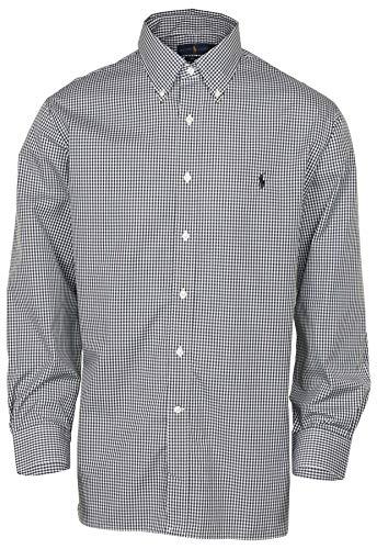 Polo Ralph Lauren Men's Easy Care Classic Fit Dress Shirt - Black/White - 18 34/35