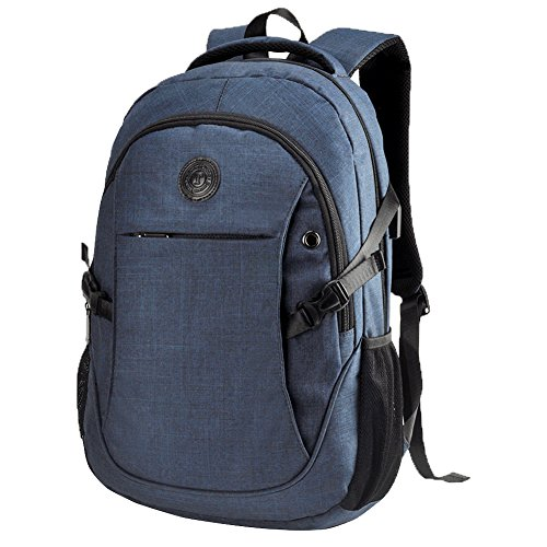 "EASTERN TIME School Backpack,15.6"" Blue Laptop Bag College Book Bag with USB Charging Port for Laptop/MacBook"