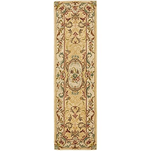 Safavieh Bergama Collection BRG168A Handmade Light Gold and Beige Premium Wool Runner (2'3