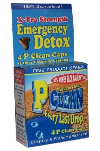 Emergency Detox P Clean Detox Capsules 1 Hour Herbal Detoxification - 1 Test Kit