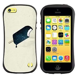 Suave TPU GEL Carcasa Funda Silicona Blando Estuche Caso de protección (para) Apple Iphone 5C / CECELL Phone case / / ice cream oil chocolate beige paper /