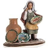 Holyart Nativity set accessory Woman selling jars clay figurine