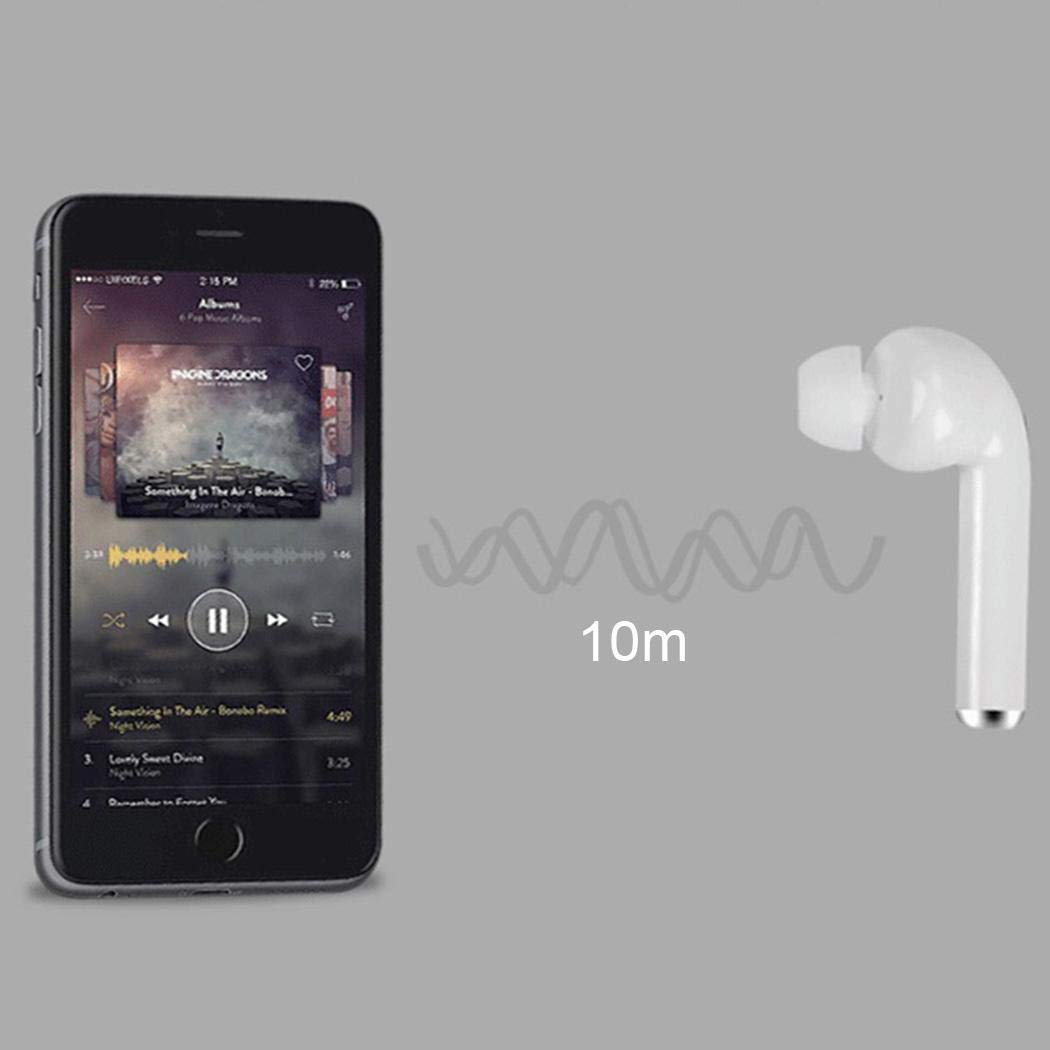 fnemo Wireless Bluetooth Earphones Stereo Music Mini Phone Headset With Charger Box Headsets