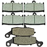 Front and Rear Kevlar Carbon Brake Pads for KAWASAKI VN 1700 Vulcan Voyager Vaquero 2009 2010 2011 2012 2013 2014 2015