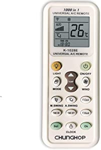 CHUNGHOP Universal Air Conditioner Remote Control for LG Gree Midea Toshiba Haier Daikin Hitachi Sharp Panasonic Samsung Sanyo Hisense Fujitsu Whirlpool Bosch and More Than 1000 Brands A/C Controller