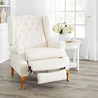 Brylanehome Queen Anne Style Tufted Wingback Recliner (Ivory,0)