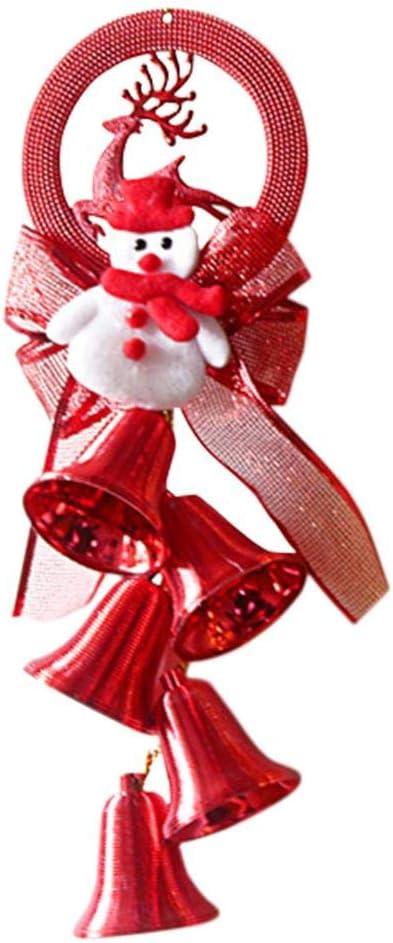 Hualieli - Perchero navideño con Campana, Colgante de Cuerdas, Adornos para árboles de Navidad Tradicionales para Centro Comercial, decoración navideña para Ventanas de Hotel