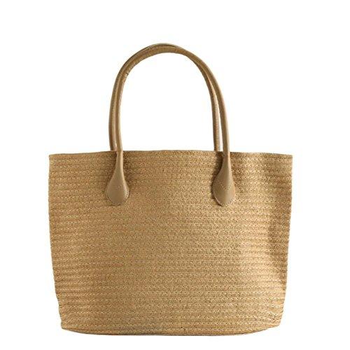 Bag Single Khaki Beach Beach Cathy02marshall And Beach Bag American New Casual Woven Bag Style European SxtR1an