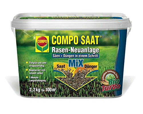 Compo 10266 Rasen Neuanlage Mix Samen und Dünger 2.2 kg für 100 m²