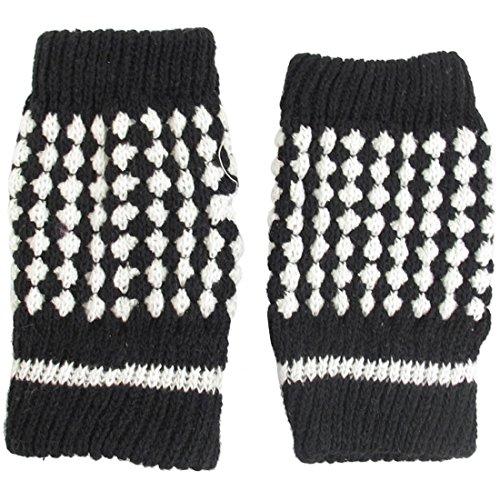 ごちそう腐食する小学生uxcell 指なし 手袋 グローブ ニット ウォーマー フィンガーレスグローブ 指無し手袋 暖かい 防寒 レディース ブラック