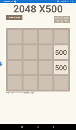 Amazon com: 2048 X500: Appstore for Android