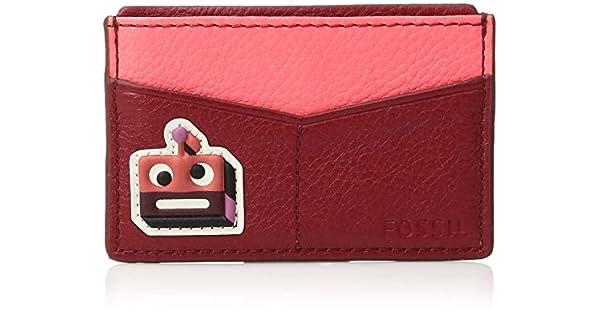 Amazon.com: Fossil Funda para tarjetas WNE, Rojo, talla ...