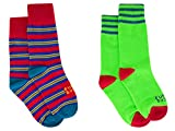 Funky Socks Boy's 2 Pack Patterned Crew Socks
