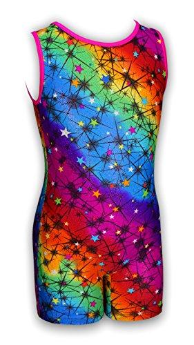 Pelle Girls' Rainbow Stardust Gymnastics Biketard (Stardust Girl)